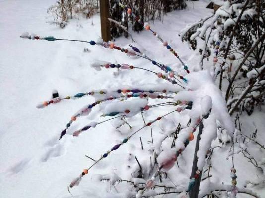 Myra Glandon Here's the garden sparkler I made last spring (inspired by Sue Gerdes' garden sparkler). It dances in the wind