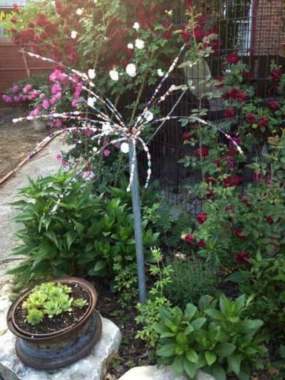 Myra Glandon's finished sparkler in the garden