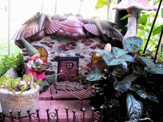 Beth Knight's handpainted fairy house
