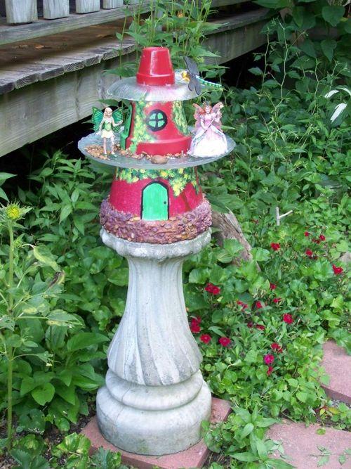 Sue Jordan's painted fairy house pots