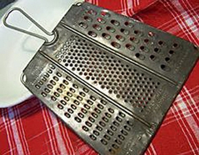 Look for a vintage grater like Annie's