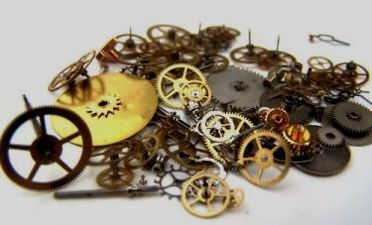 Watch gears and dials or owl eyes!