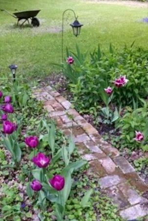 Brick path keeps feet dry!