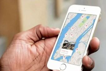 Flea market map on iPhone