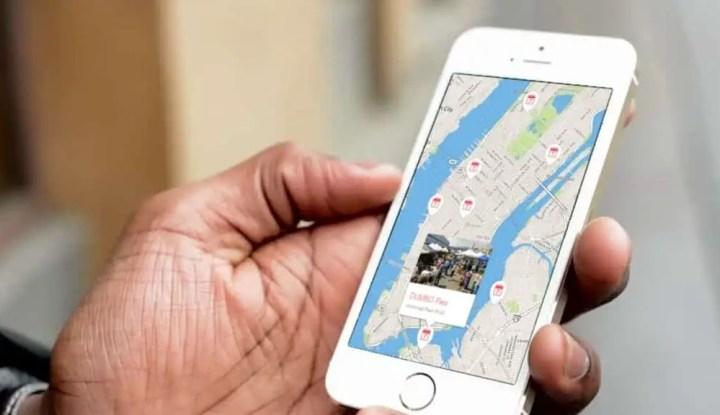 smartphone map NYC