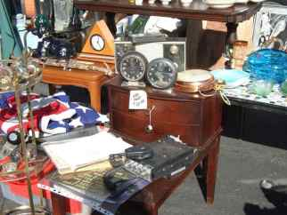 Vintage furniture and decor at the Rose Bowl Flea Market