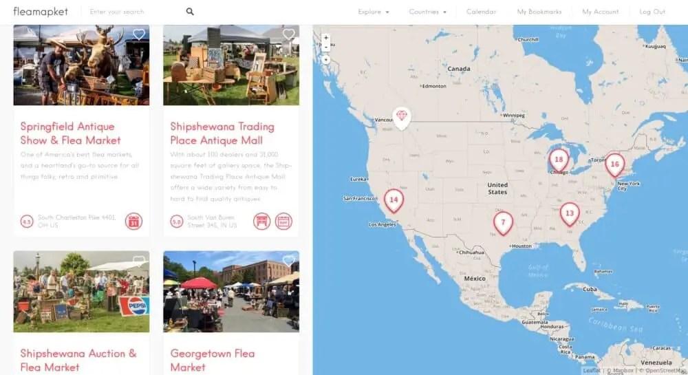 Flea Market Top 20 Flea Markets in the US 2017 Update  Flea