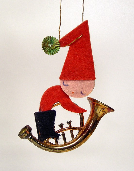 Allen French Horn Christmas Ornament 1955