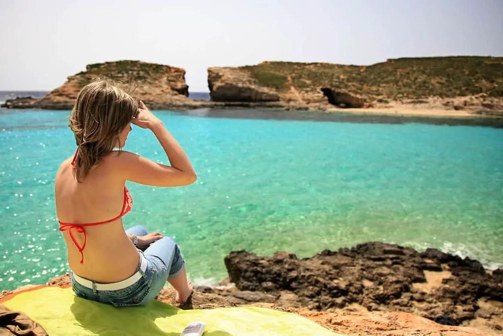 blue sea of Malta