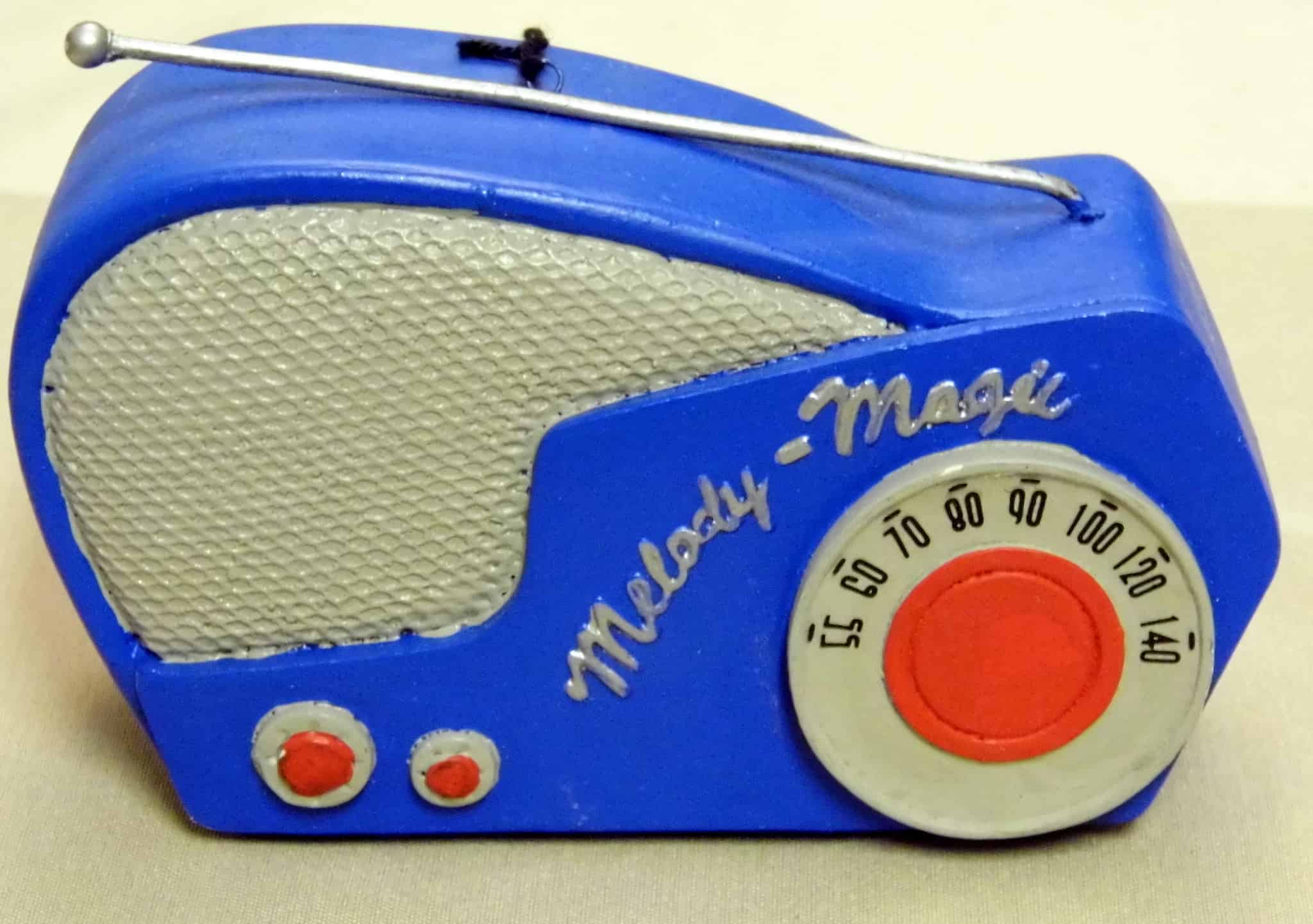 Joe Haupt Christmas Ornament in the Shape of a Vintage Radio Melody Magic by Midwest of Cannon Falls