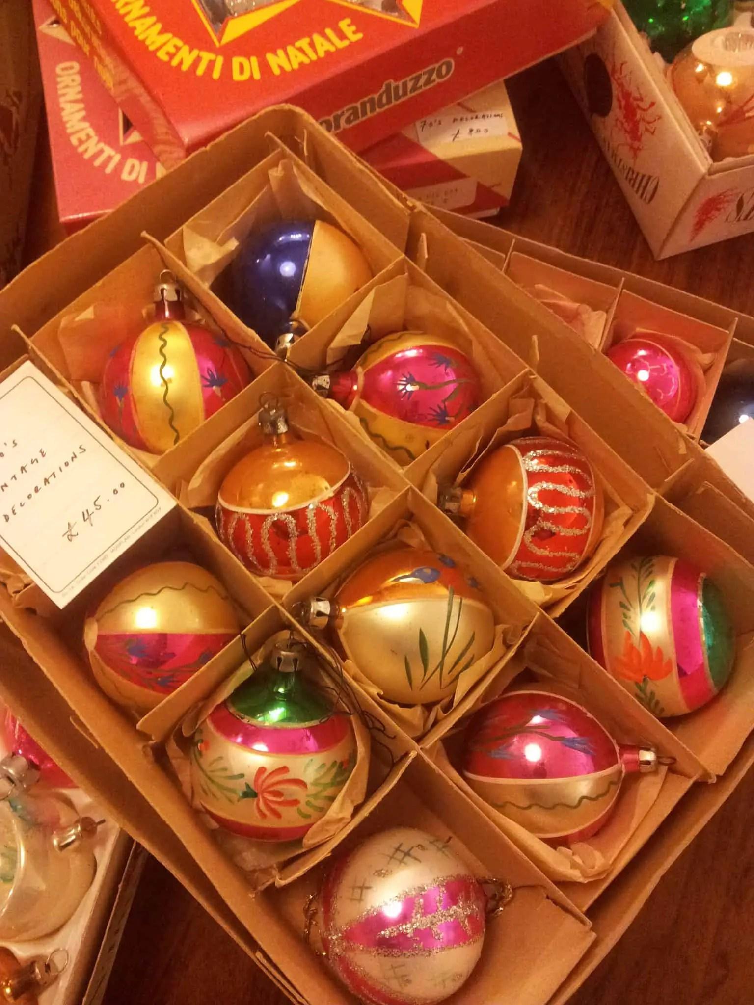 Katy Stoddard Vintage glass Christmas baubles