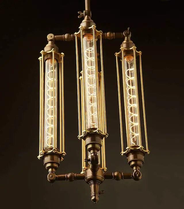 edison light globes - victorian retro futuristic steampunk lamp design-005