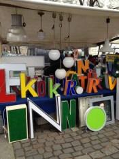 © Karen Mardahl I need to buy more vowels Arkonaplatz flea market.
