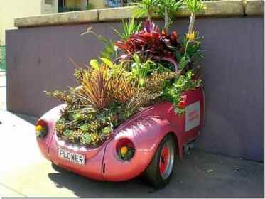 Car Recycling Garden Container 004