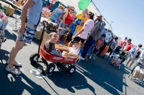 Kids having fun at the San Jose Flea Market