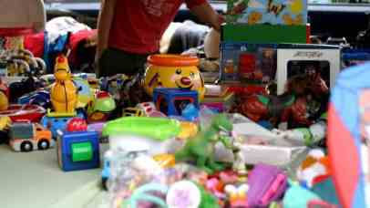 second hand toys at San Jose Flea Market
