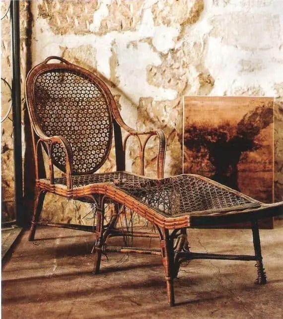 Superb Vintage Rattan Garden Chair