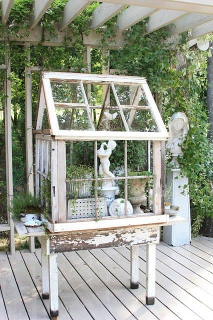 greenhouses made out of old windows