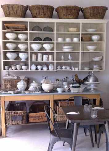 French Provincial Interior - Enameled Kitchenware
