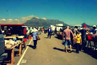 Milnerton Flea Market with Table Mountain in the background