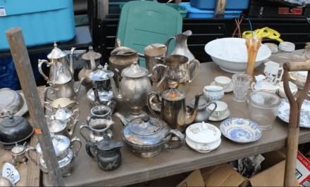 silverware at rogers flea market