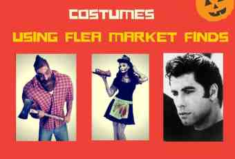 DIY Vintage Halloween costumes using flea market finds