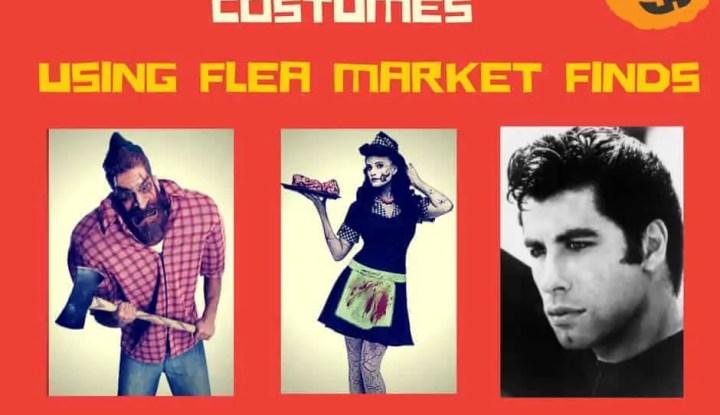 DIY Vintage Halloween costumes using flea market finds