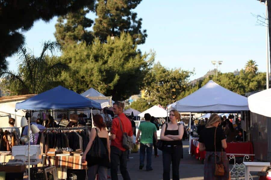 Best flea markets in LA: View of Melrose Trading Post flea market