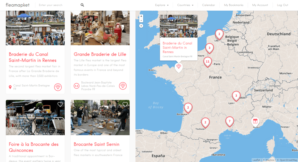 flea market map france