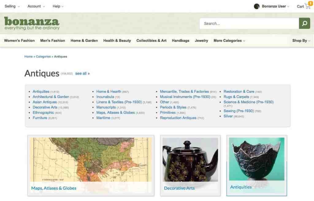 The 4 best online shops for vintage products besides ebay flea online shops vintage bonanza gumiabroncs Gallery