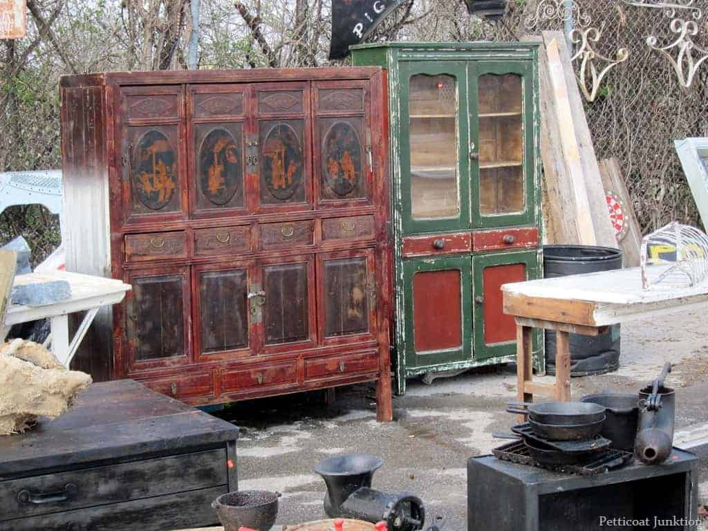 Wood Cabinets at Nashville Flea Market © Petticoat Junktion