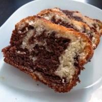 Gateau marbré au chocolat