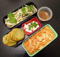 Fleanette's Kitchen - Salade de germes de soja, falafels et halva à la carotte
