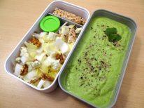 Fleanette's Kitchen - Purée de petits pois et salade d'endives bleu et noix