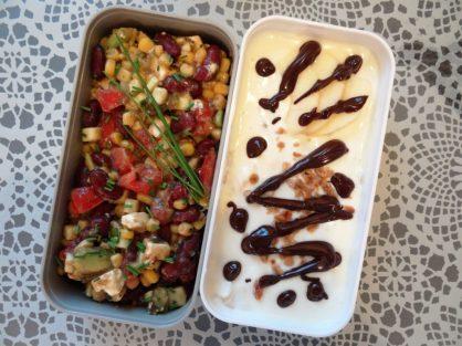 Fleanette's Kitchen - Salade complète et Yaourt pomme-muesli