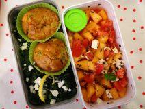 Fleanette's Kitchen - Muffin, épinards et salade melon-tomate