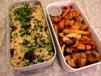 Taboulé, légumes d'hiver rotis et tofu Yakitori - Fleanette's Kitchen