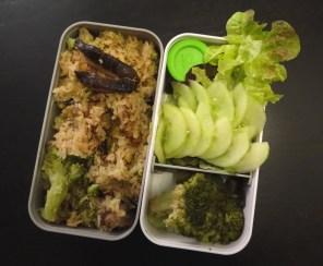 Fleanette's Kitchen - Bento riz aux Shiitakés et brocolis