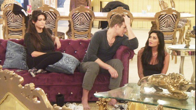 Casey, Lee and Jasmine in the living room IMAGE PROVIDED BY CHANNEL 5