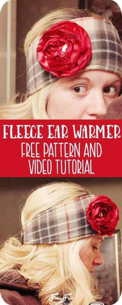 This Fleece Headband Pattern Ear Warmer looks cute and warm. Really simple instructions and there's a video tutorial to walk me through it - sweet!  Great fleece sewing project. Perfect Ear warmer for winter.