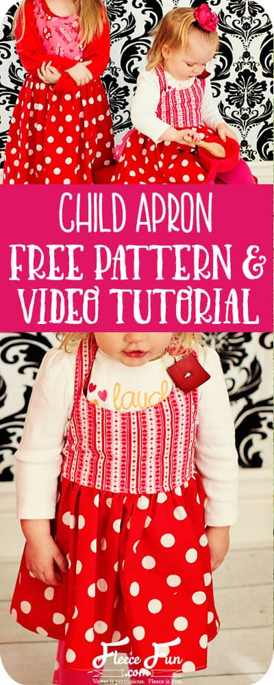 I love this child apron tutorial. It has a free sewing pattern. Great sewing project. #sewingproject #freesewingpattern #childaprondiy #childapronpatternfree