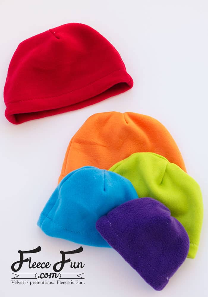 I love this easy basic fleece hat tutorial. I love the free pattern that comes with it. Perfect fleece sewing project. This winter hat comes in sizes baby to adult. Perfect sewing pattern for the whole family.