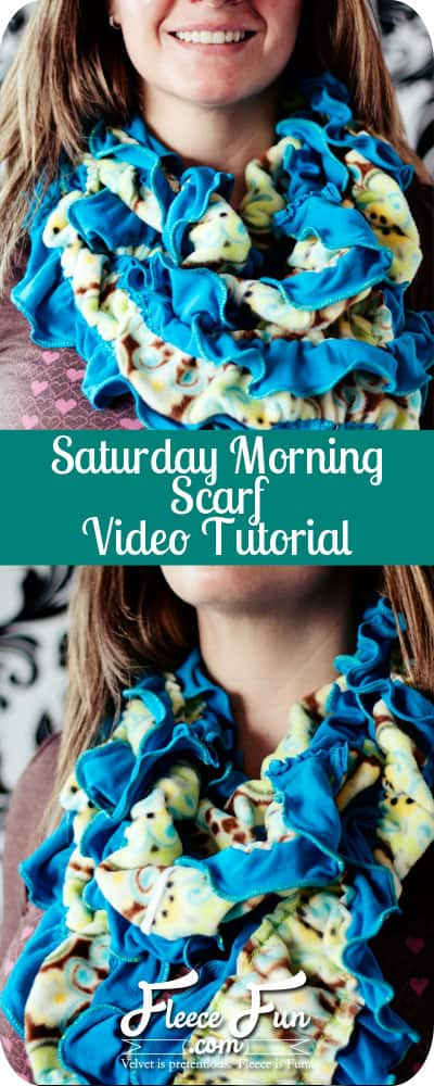 I love this cozy looking fleece scarf.  This looks like I would love sewing it.  Plus there's a video tutorial.  Great DIY Idea.