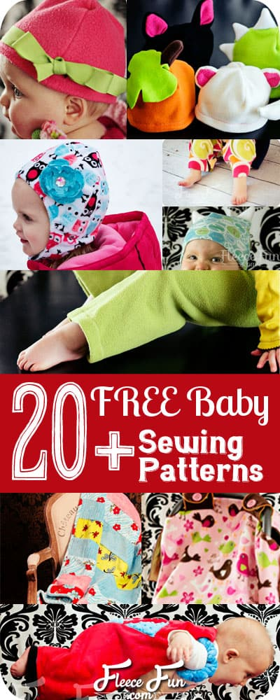 I love this collection of Easy Baby Sewing Patterns (Free pdf, and video tutorial).  perfect sewing projects for babies that are good for beginning sewers.  Love how that there is a little bit of everything from hats to pants, to shirts to sofites!.