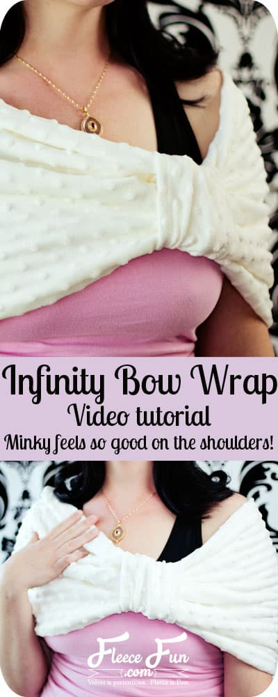 I love this simple bow wrap idea.  It  looks easy to sew and three is a video tutorial to make it simple.  Great DIY clothing idea for the winter months!
