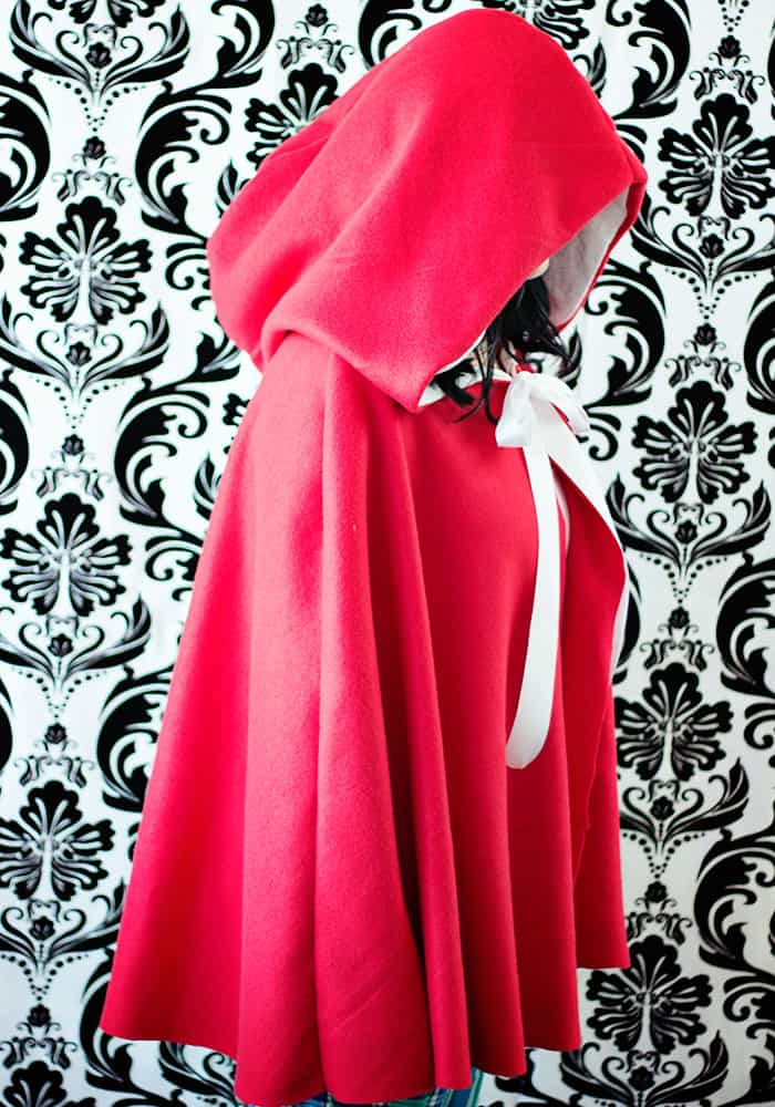 Thisred riding hood cape pattern comes together quickly and comes in child and adult sizes. An easy sew, this free sewing pattern is perfect for grandmother's house.Video tutorial breaks down the steps. Great easy costume. Love this fleece sewing Project - Red Riding Hood Cape Pattern.