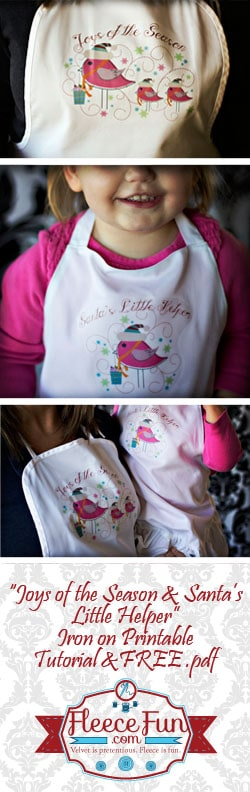 I love this easy to make Christmas apron DIY.  It's a great hostess gift and is really simple to make.  Great tutorial. Love this idea.