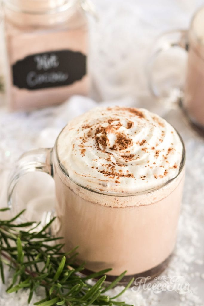 Learn how to make Homemade Hot Cocoa Mix (Best Ever!). This easy DIY recipe makes for wonderful gifts or a kitchen staple during the cold months. Perfect for a holiday pick me up. This recipe goes beyond the regular ingredients to give you a full rich blend of cholate flavors and goodness.