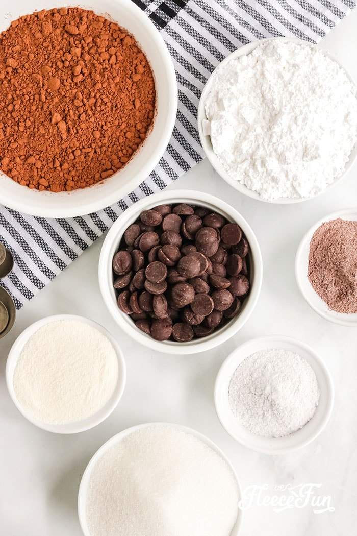 You can make this Ultimate Gourmet Hot Chocolate Mix Recipe (Homemade) - easy and makes a great gift! Ingredients can be found at your local grocery store!