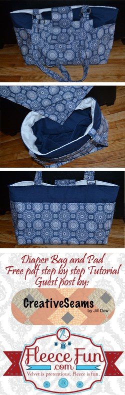 I love this free diaper bag tutorial.  Such a great sewing DIY for baby.